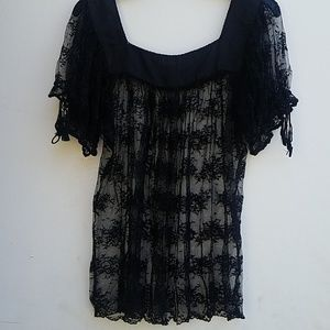 Lace Sheer Top ICE